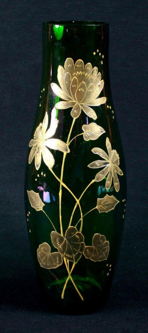 Moser Style Gilt Decorated Vase