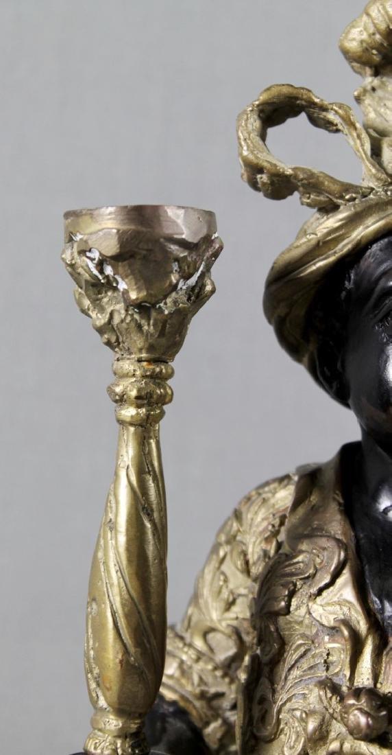 PAIR OF VENITIAN BRONZE BLACKMOOR FIGURES - 4