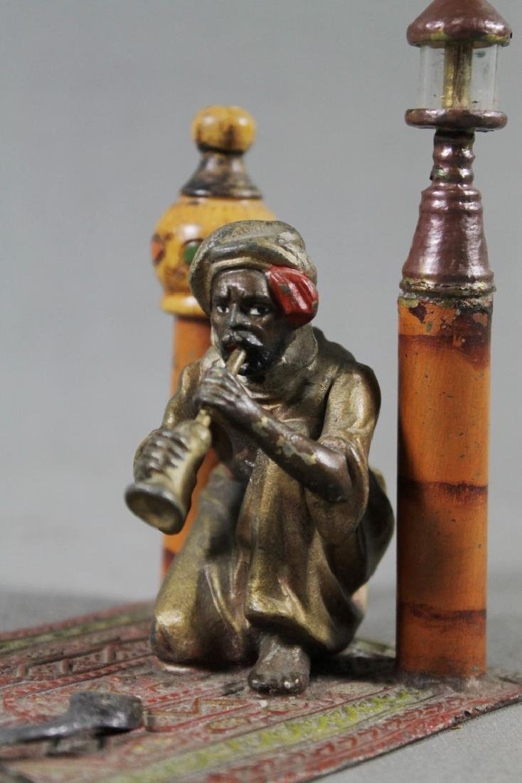Cold Painted Figure Of Snake Charmer - 2