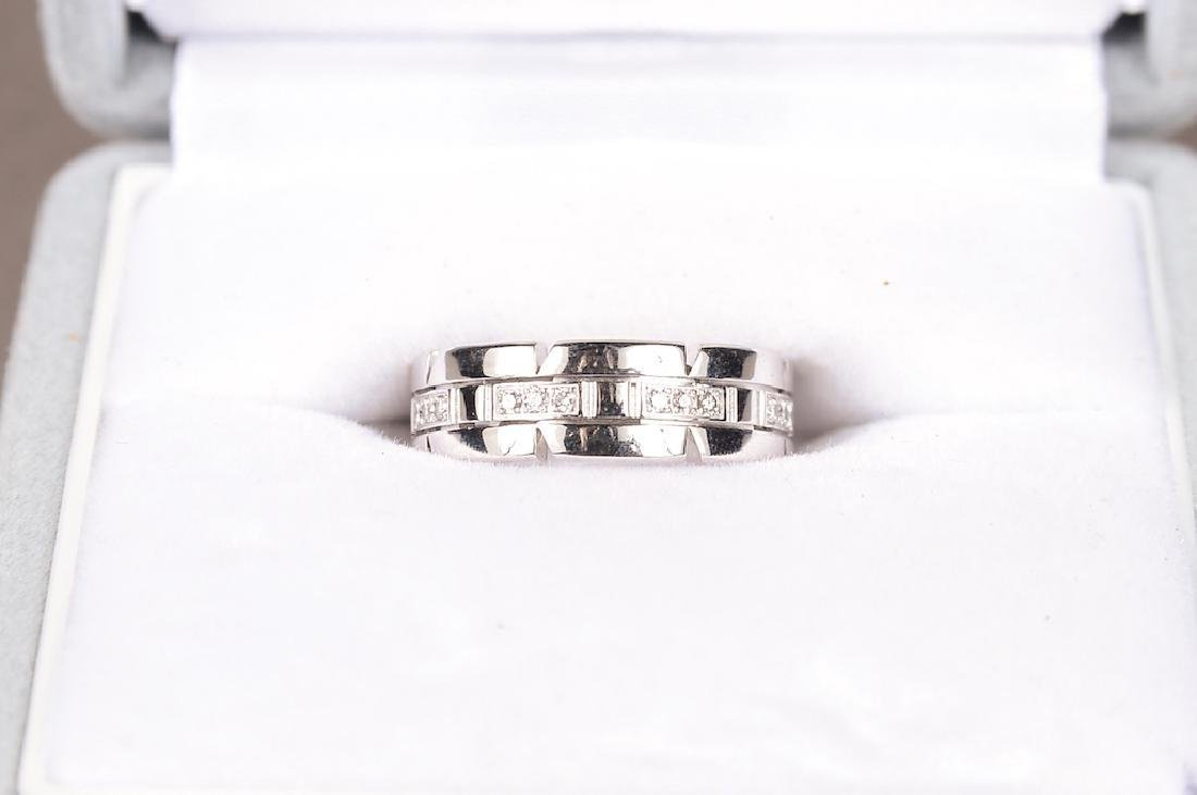 Cartier 18K Gold And Diamond Ring. Signed: Cartier - 2