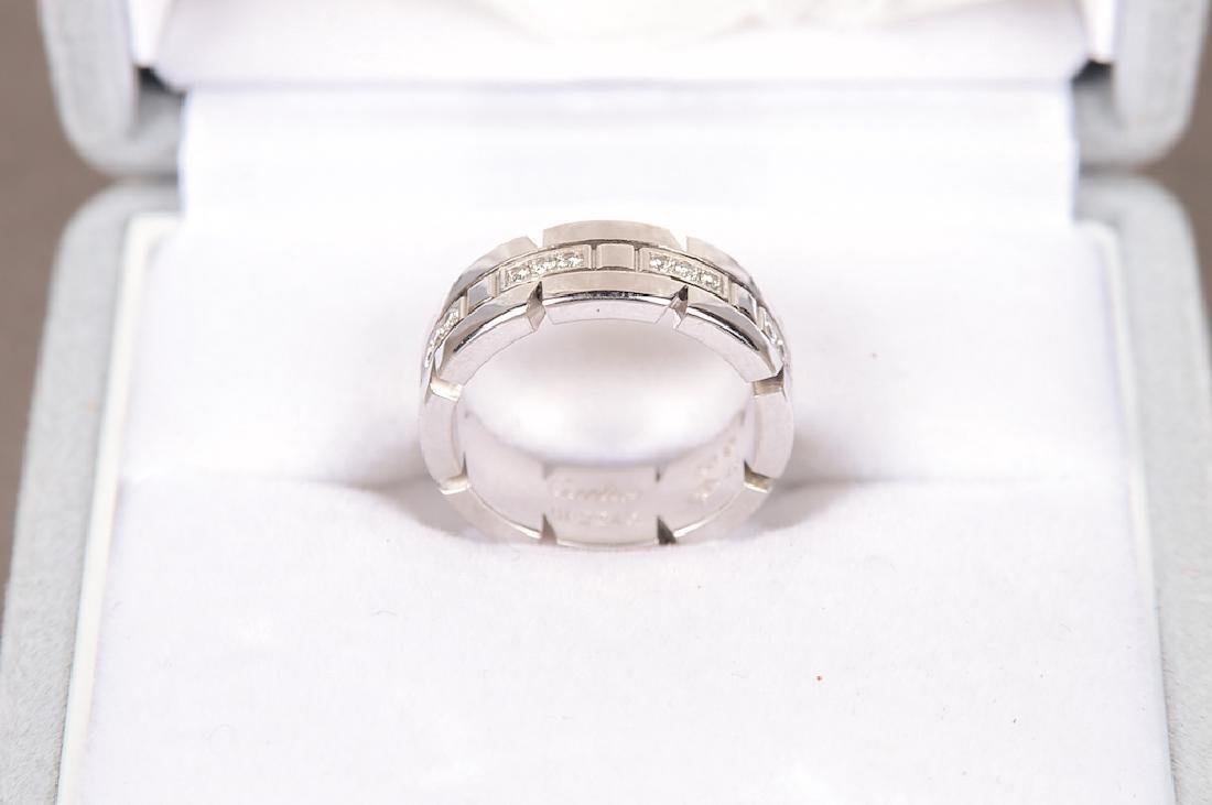 Cartier 18K Gold And Diamond Ring. Signed: Cartier - 3