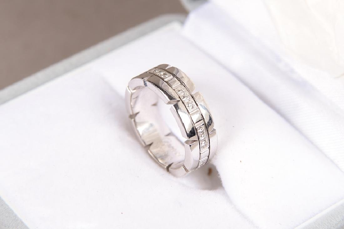 Cartier 18K Gold And Diamond Ring. Signed: Cartier - 4