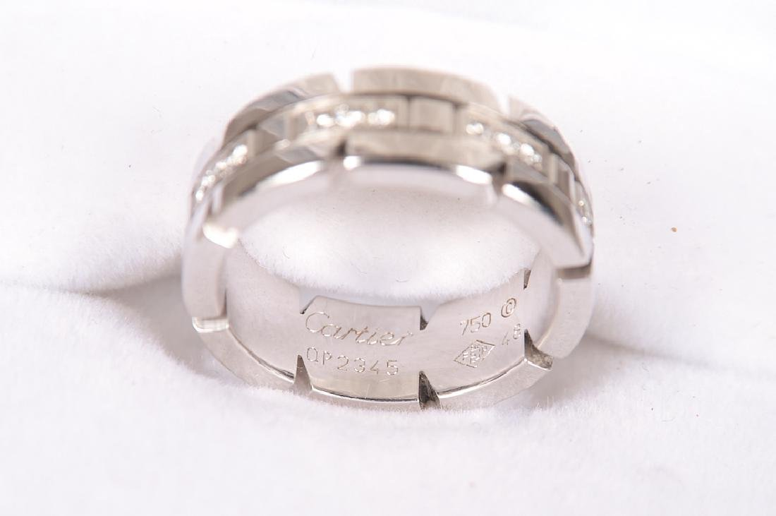 Cartier 18K Gold And Diamond Ring. Signed: Cartier - 5