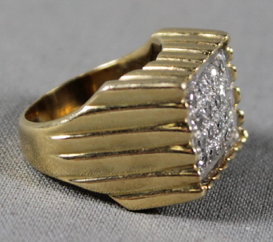 Gold And Diamond Ring - 2