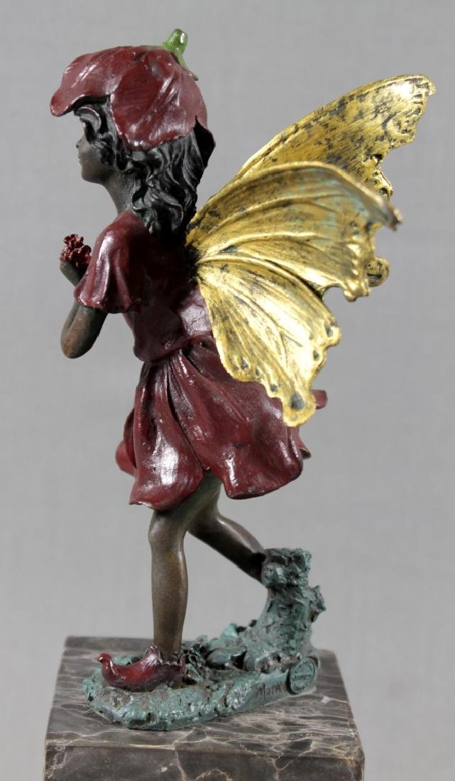 Polychrome Bronze Figure Of Girl On Marble Base - 3