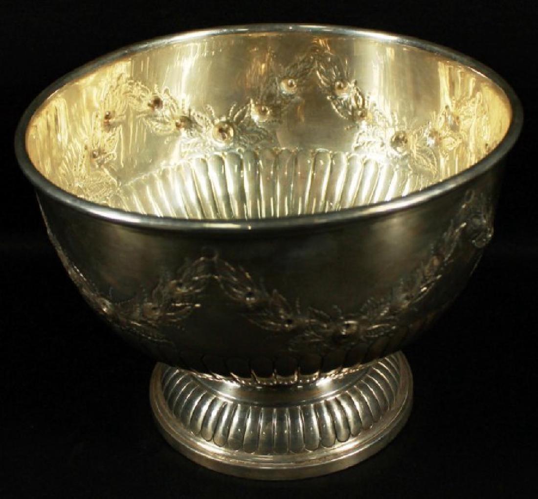 English Silver Inlaid Bowl