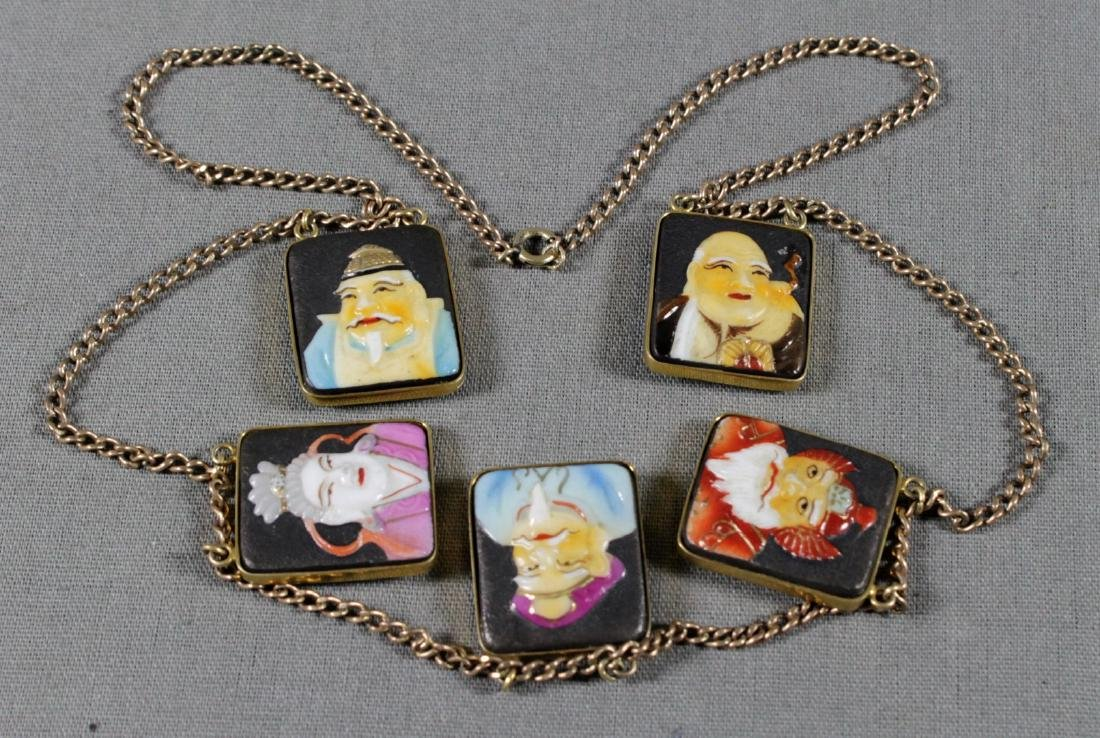 Chinoiserie Plaque Necklace