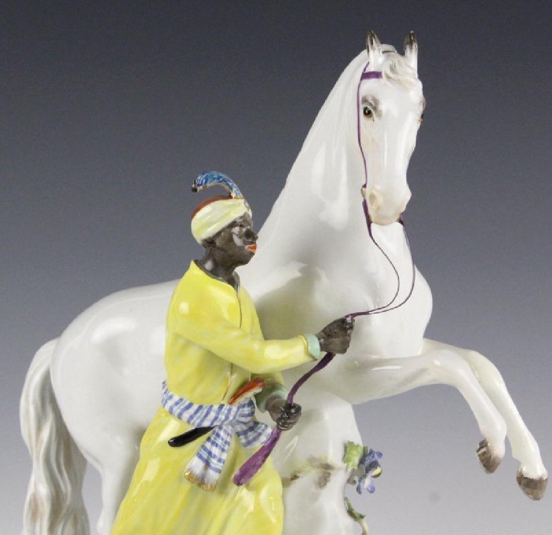 19Th C. Meissen Figure Of Blackmoor W/ Horse - 2