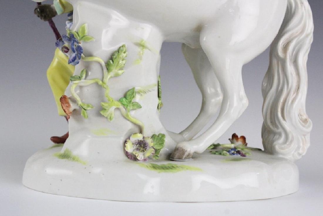 19Th C. Meissen Figure Of Blackmoor W/ Horse - 5