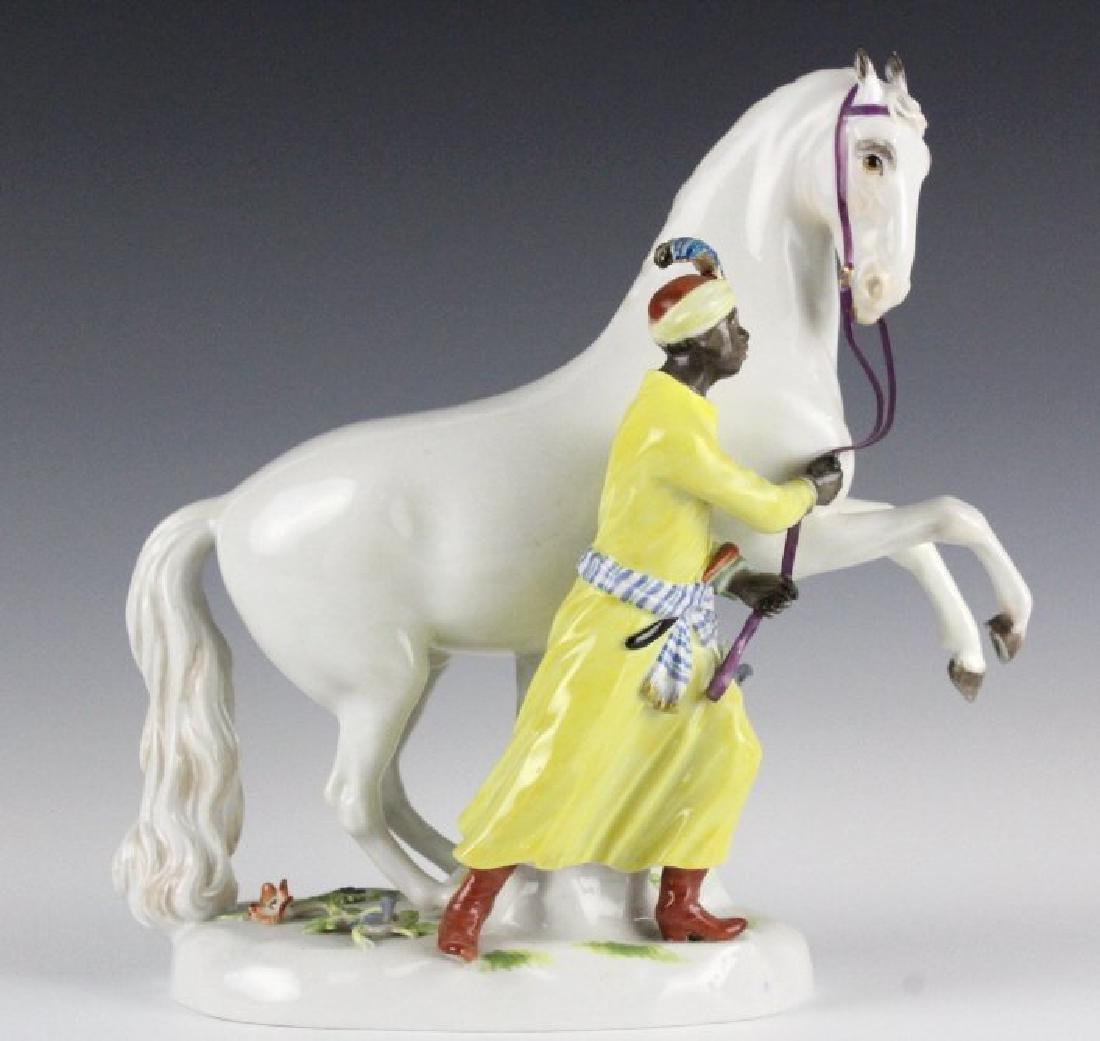 19Th C. Meissen Figure Of Blackmoor W/ Horse - 8