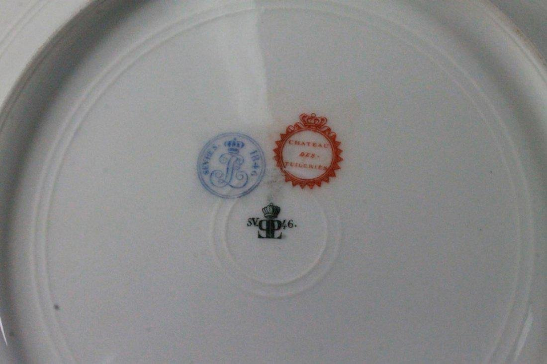 19Th C French Sevres Porcelain Cabinet Plate: King - 5