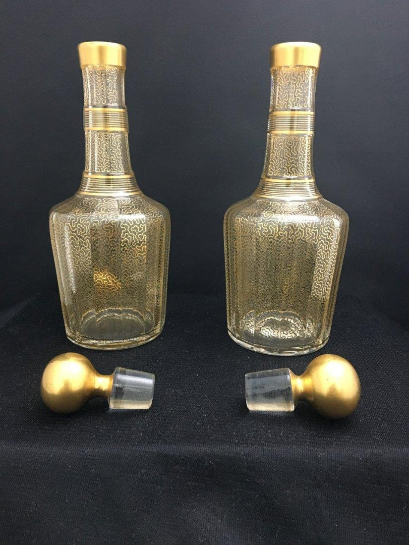 Baccarat Set of Two Bottles and Plate with Bronze Mount - 4