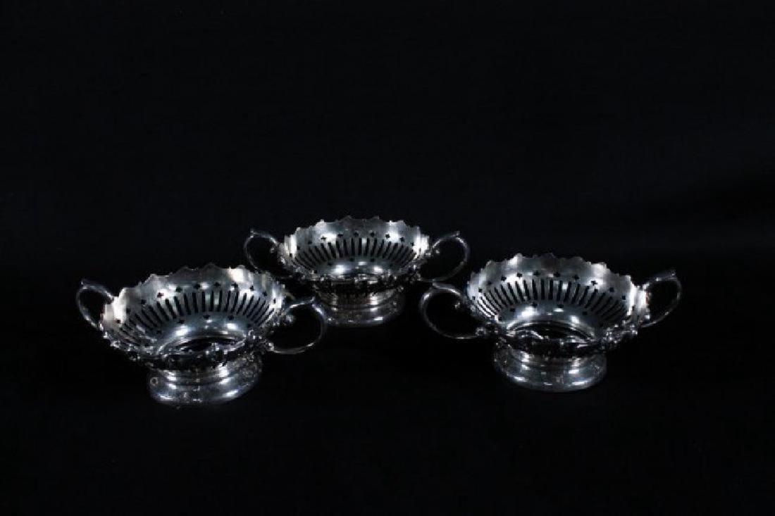 Set Of 3 Sterling Silver Ramekin Holder