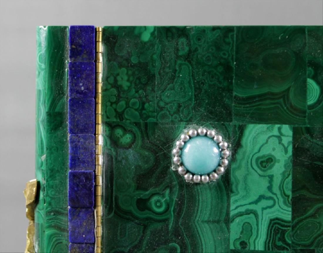 Magnificent Russian Malachite And Jewelled Book Shaped - 4