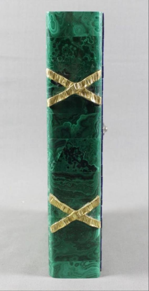 Magnificent Russian Malachite And Jewelled Book Shaped - 5