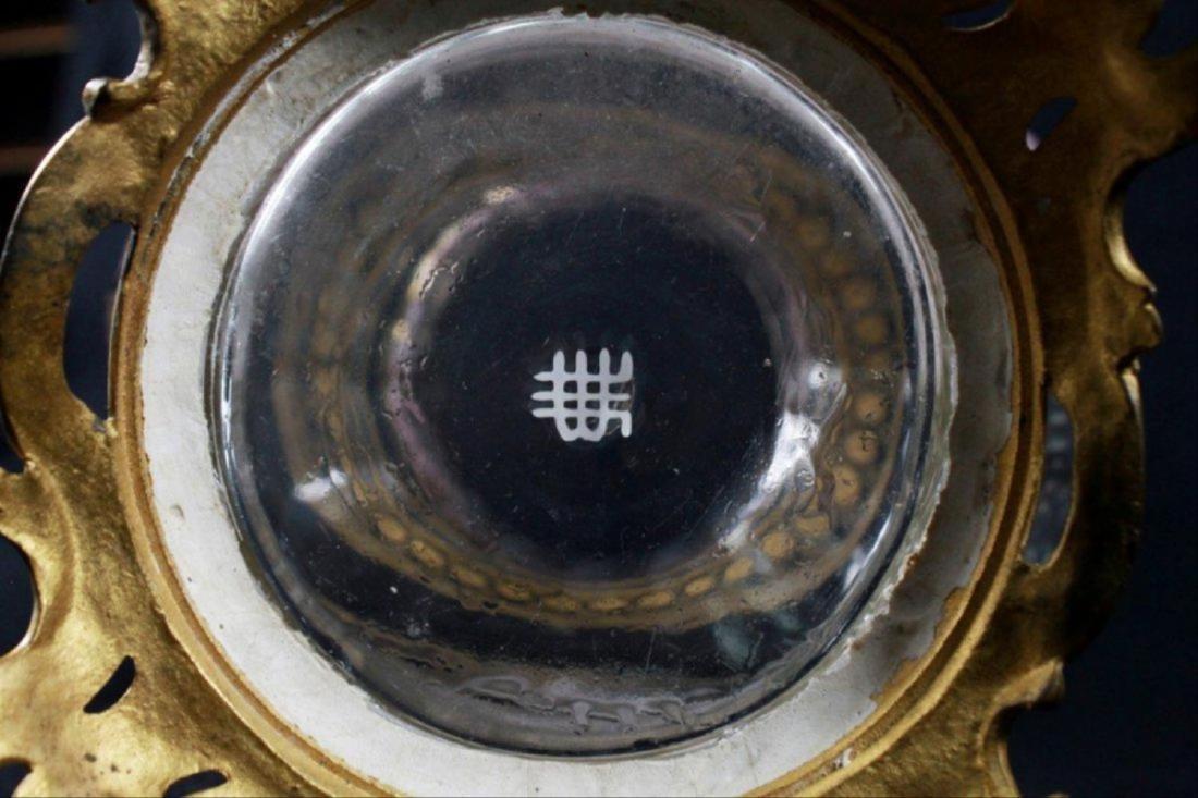 Magnificent Lobmeyr Vase In Bronze Base - 10
