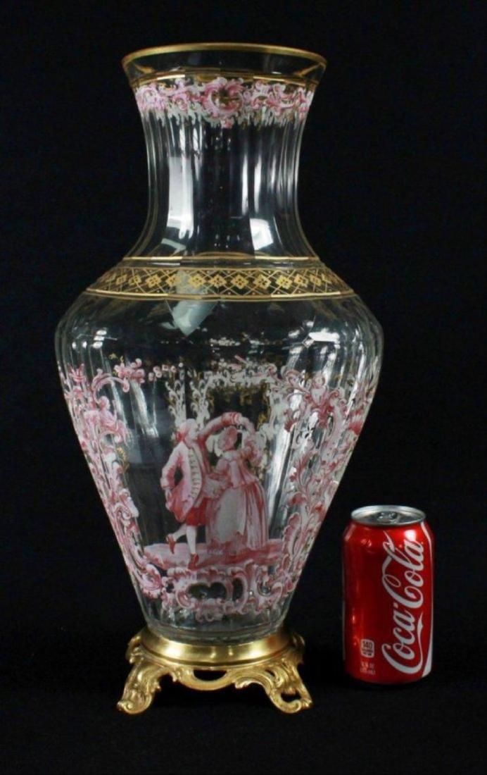 Magnificent Lobmeyr Vase In Bronze Base - 2