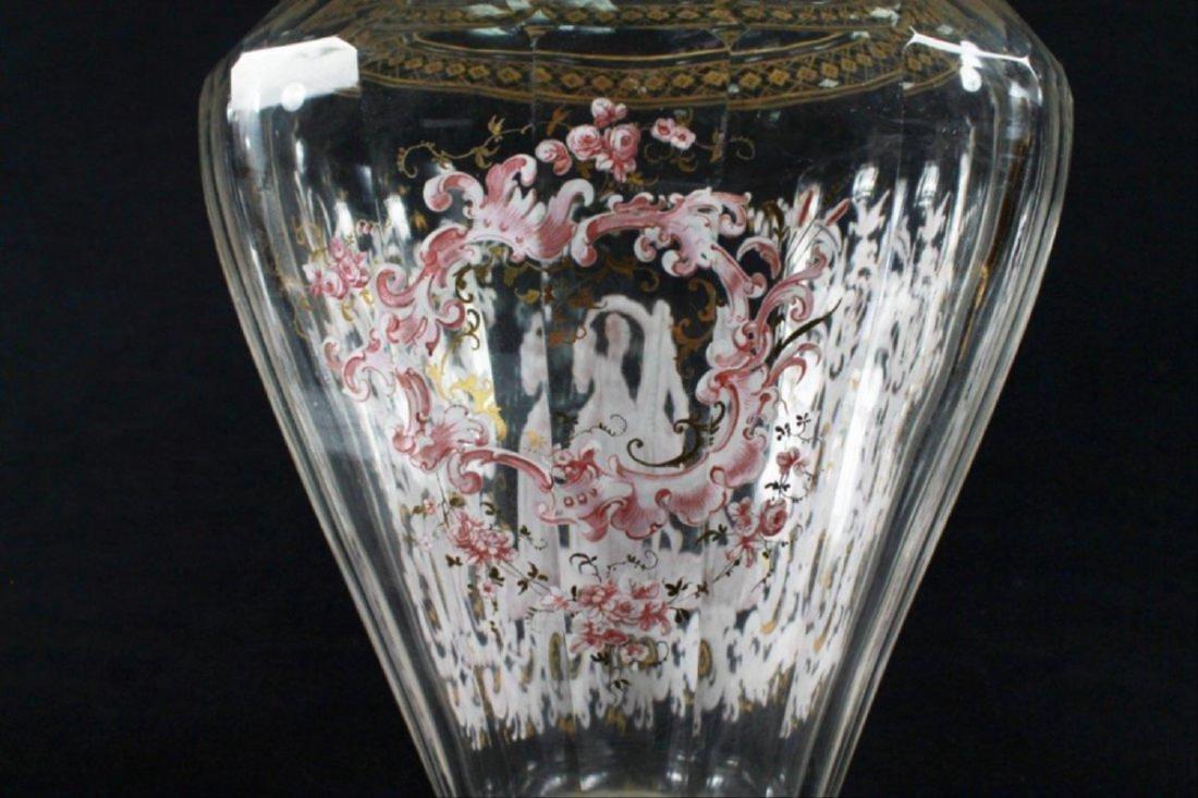 Magnificent Lobmeyr Vase In Bronze Base - 7