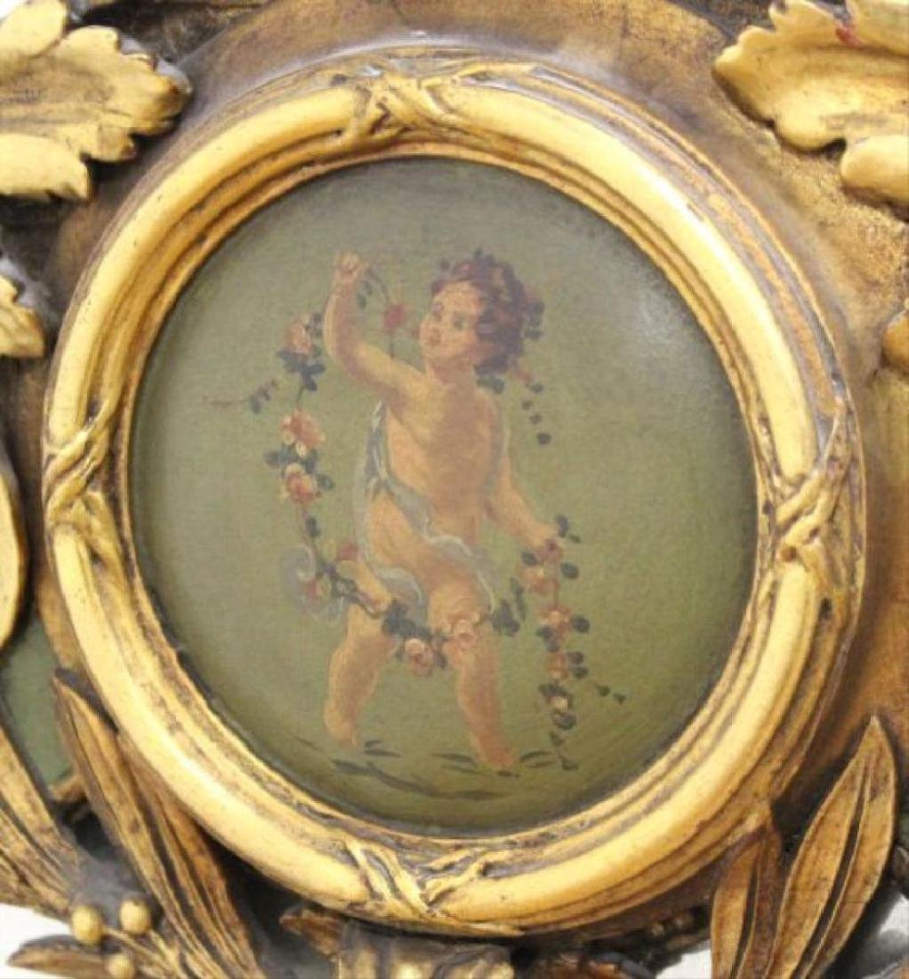 "Late 19th C. Carved Gilded Figural Mirror 55""H - 3"