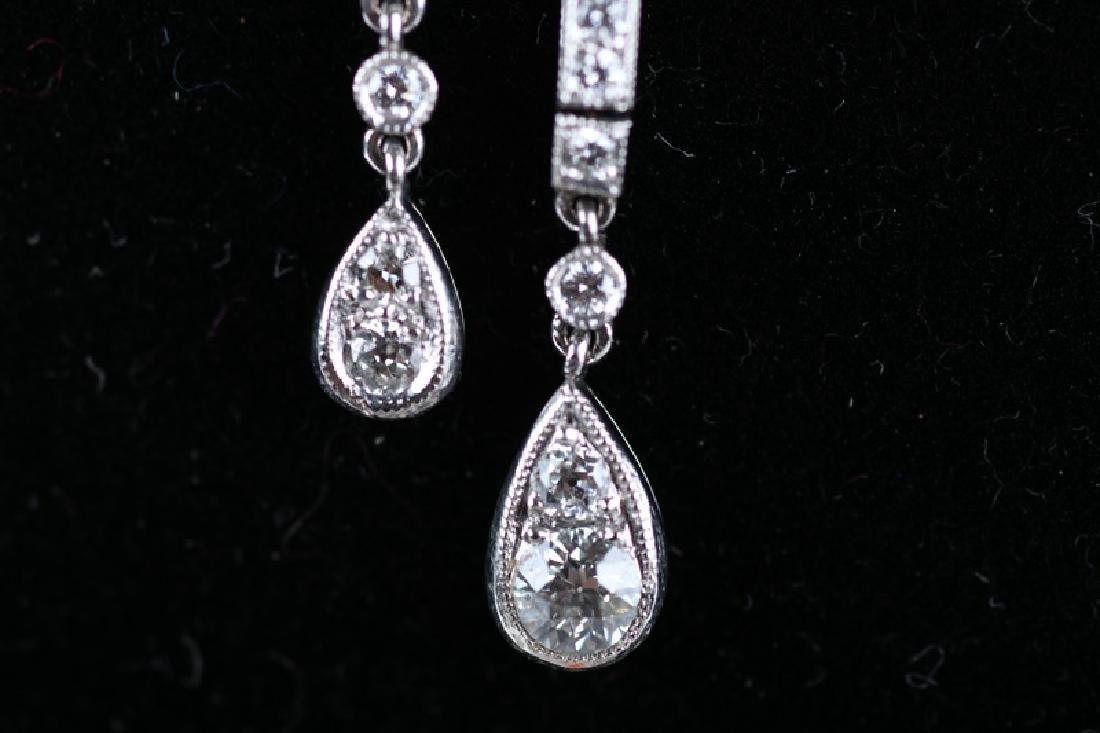 18 Karat White Gold & Diamond Necklace - 4