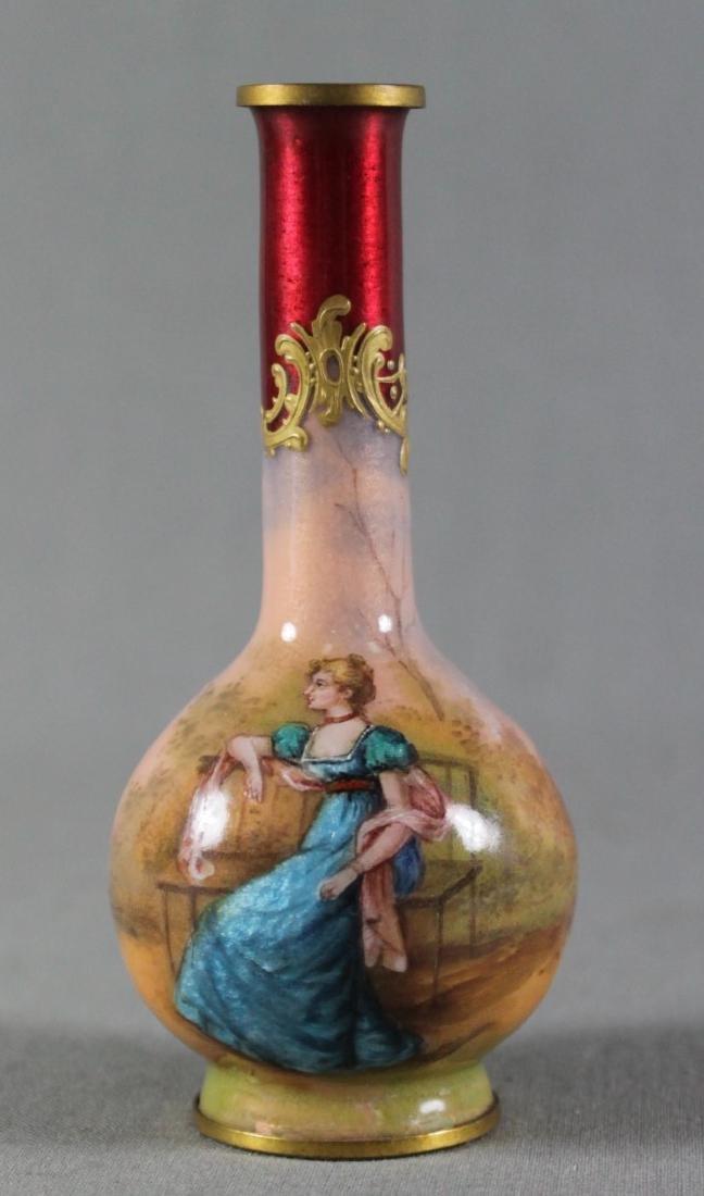 Mini Viennese Enameled Vase