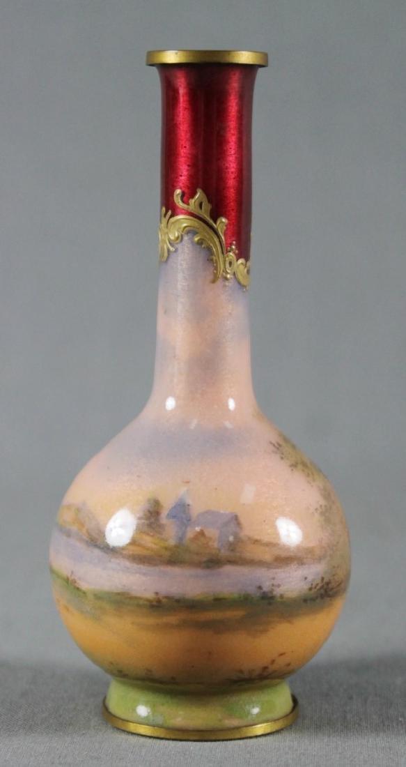 Mini Viennese Enameled Vase - 3