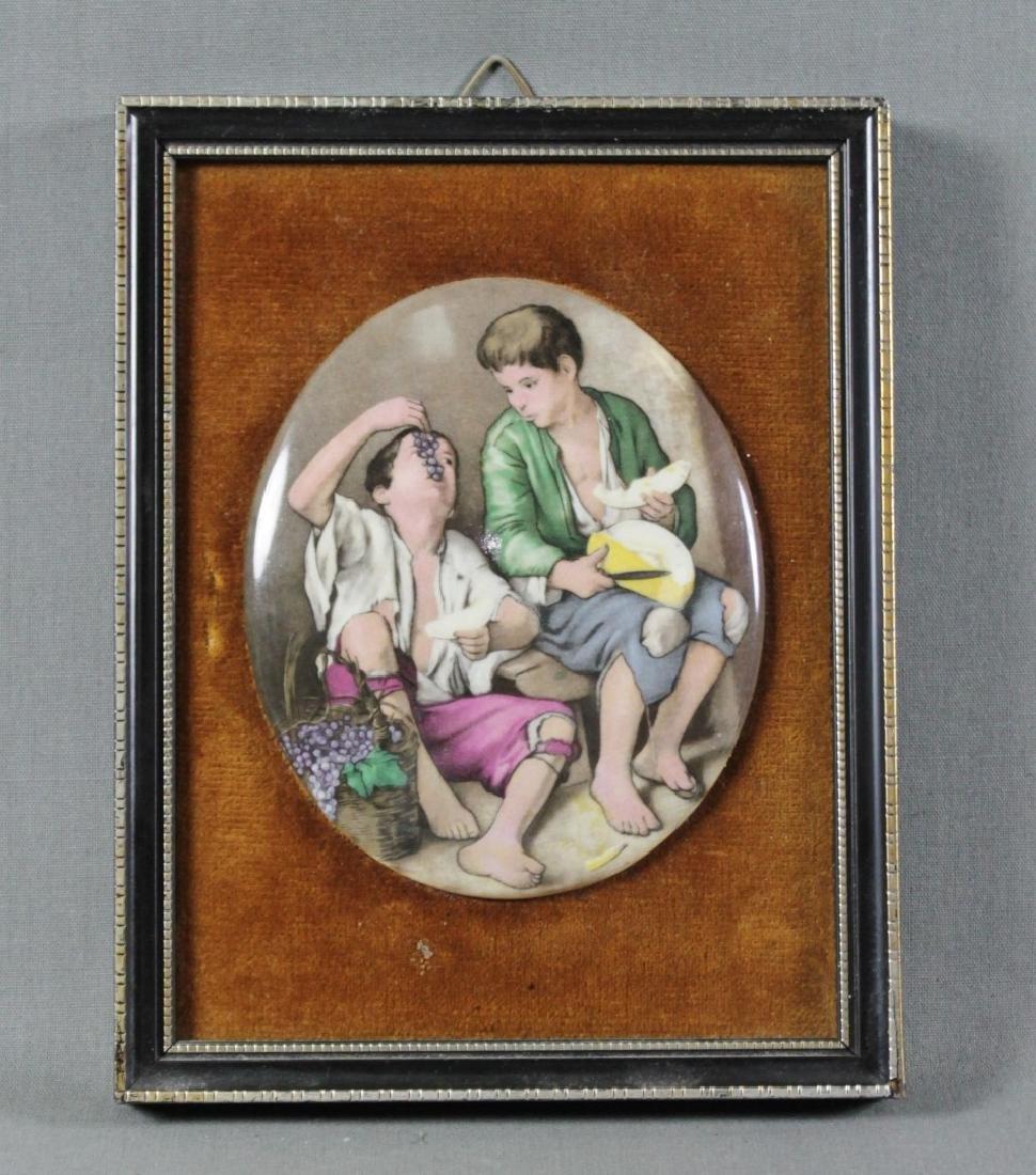 Framed Porcelain Oval Plaque
