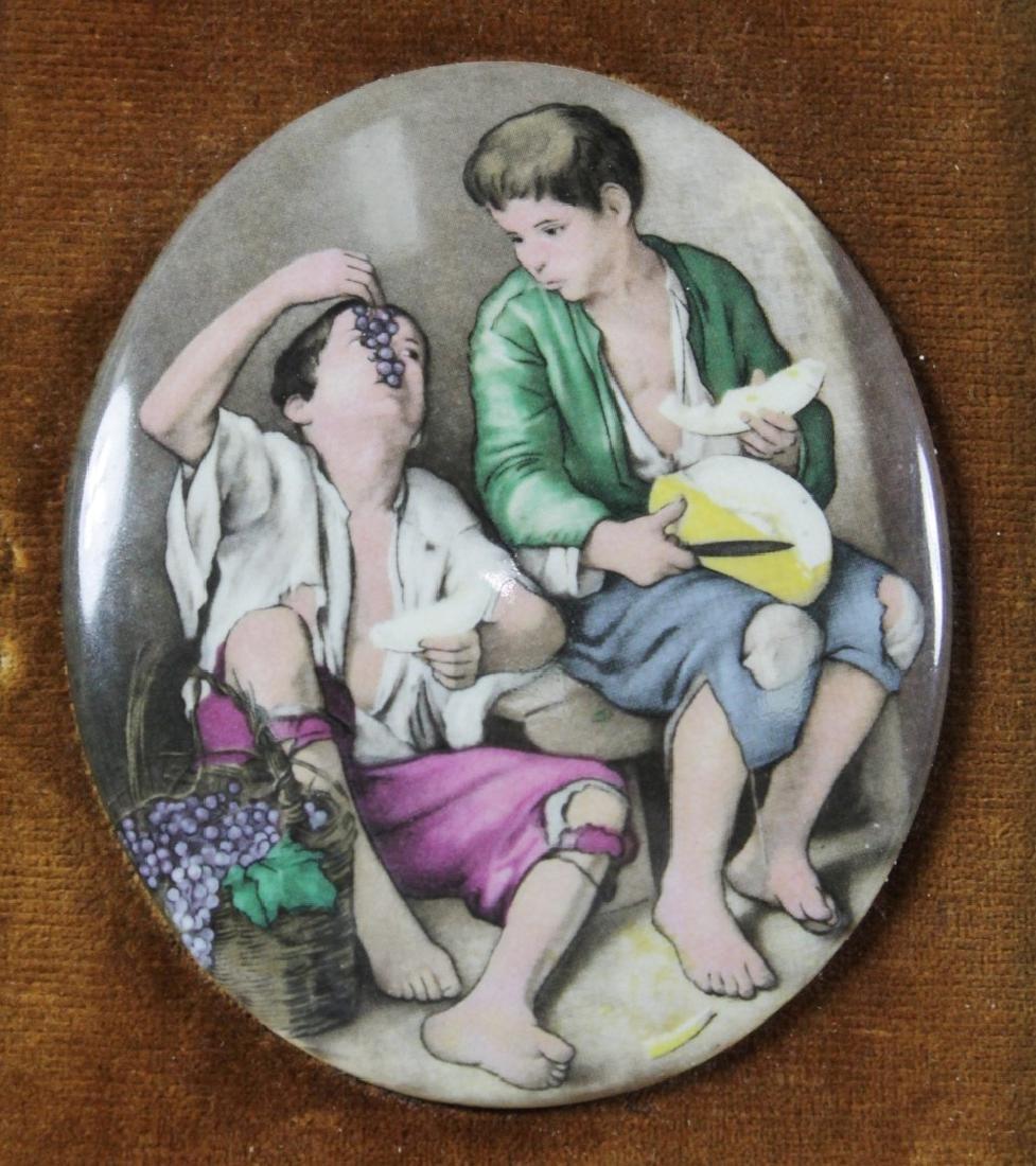 Framed Porcelain Oval Plaque - 2