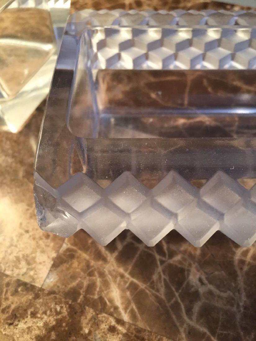 6 Pc. Lalique Molded Glass Oval Centerpiece Chemin De - 6