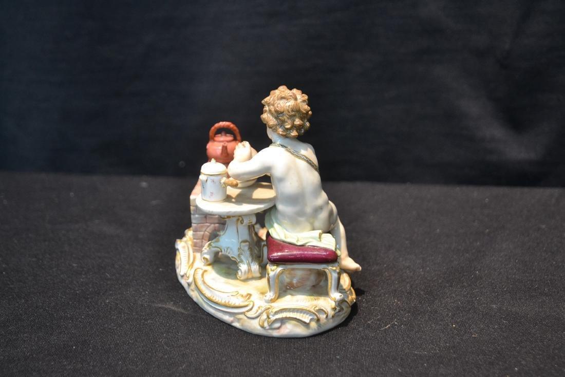 Meissen Putti With Tea Pot On Stove - 6