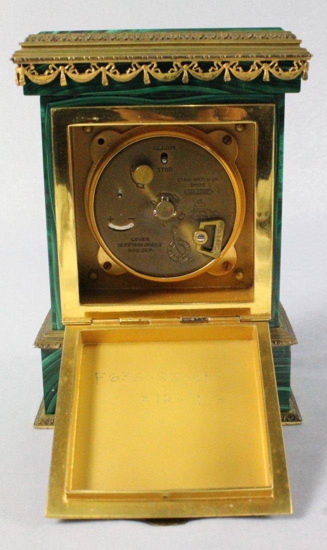 Malachite And Ormolu Clock On Silver - 5