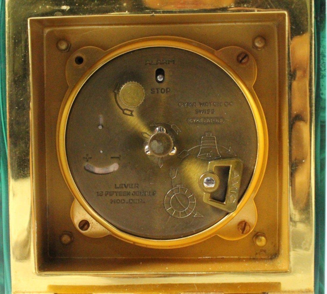 Malachite And Ormolu Clock On Silver - 6