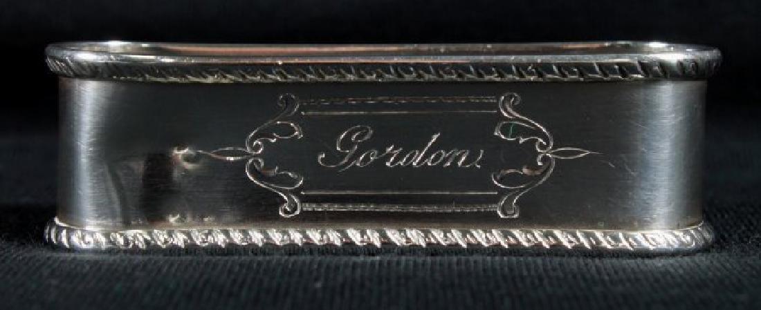 """Antique Sterling Silver Napkin Holder Monogrammed"""""""
