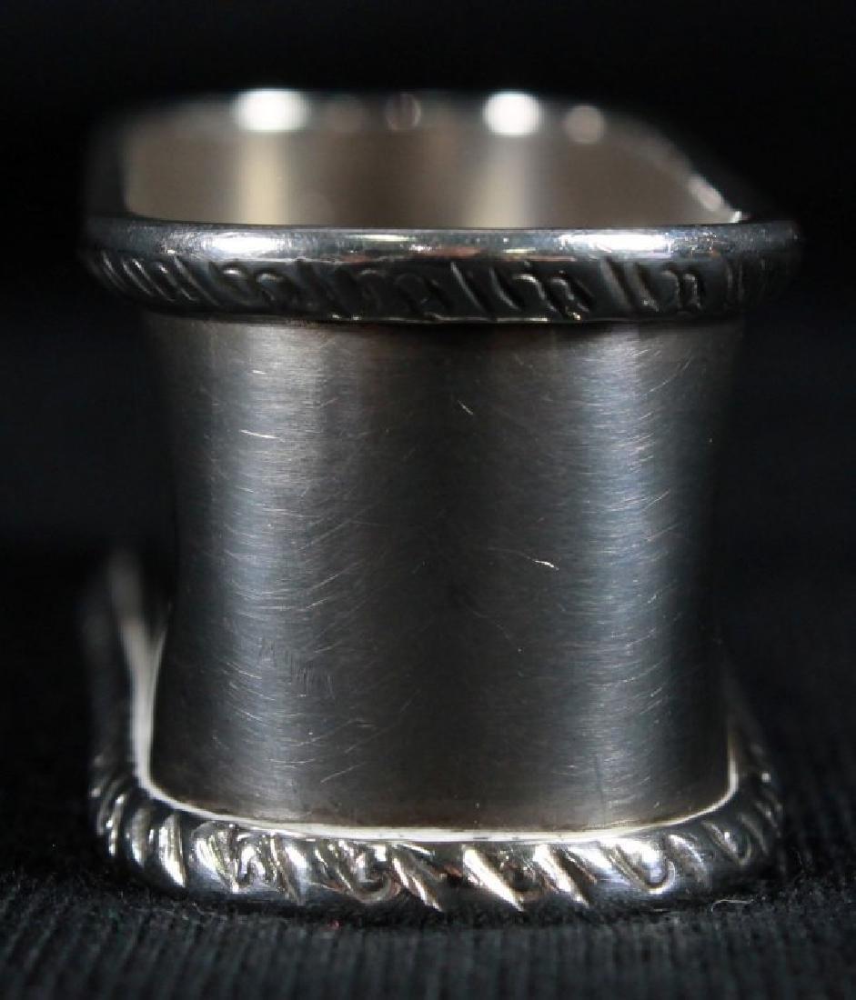 """Antique Sterling Silver Napkin Holder Monogrammed"""" - 3"""