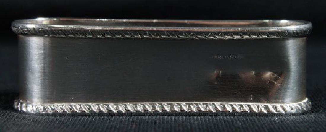 """Antique Sterling Silver Napkin Holder Monogrammed"""" - 4"""