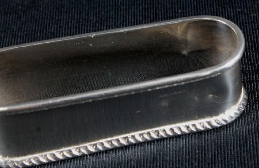 """Antique Sterling Silver Napkin Holder Monogrammed"""" - 8"""