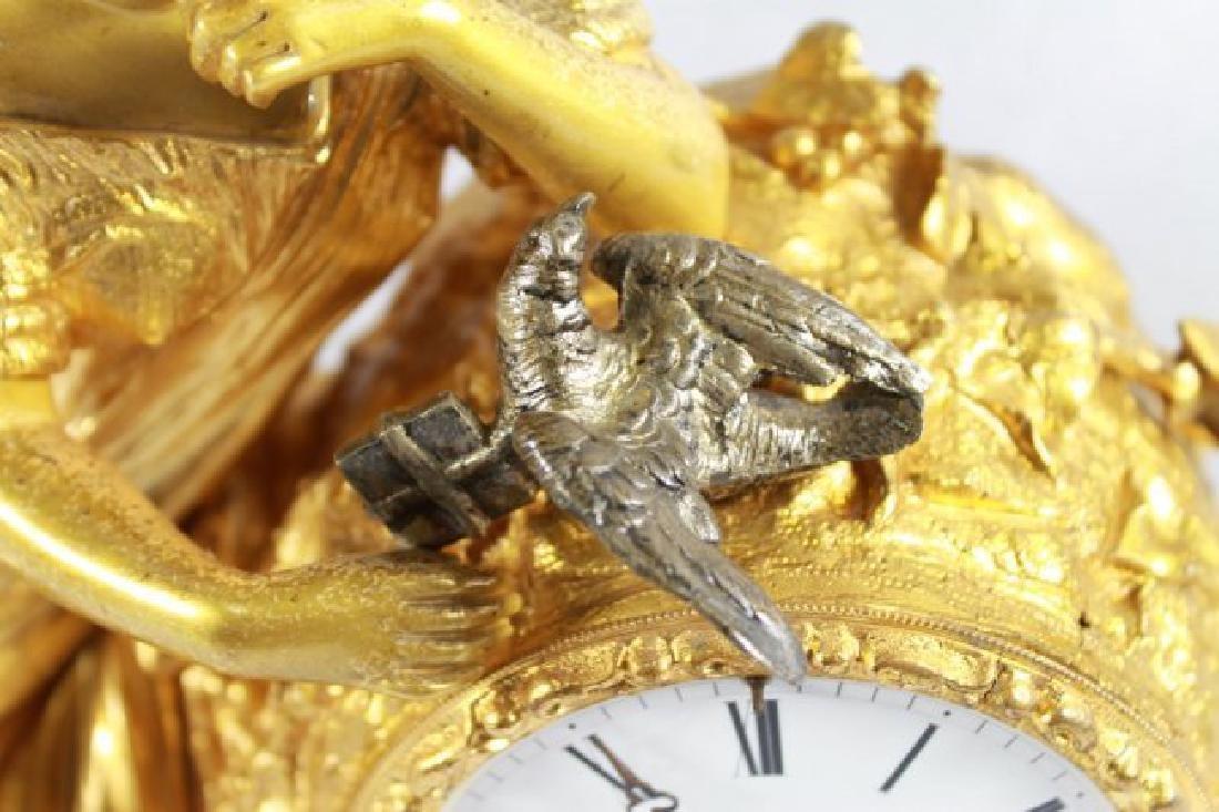Dore Bronze 8 Day Figurative Clock - 4