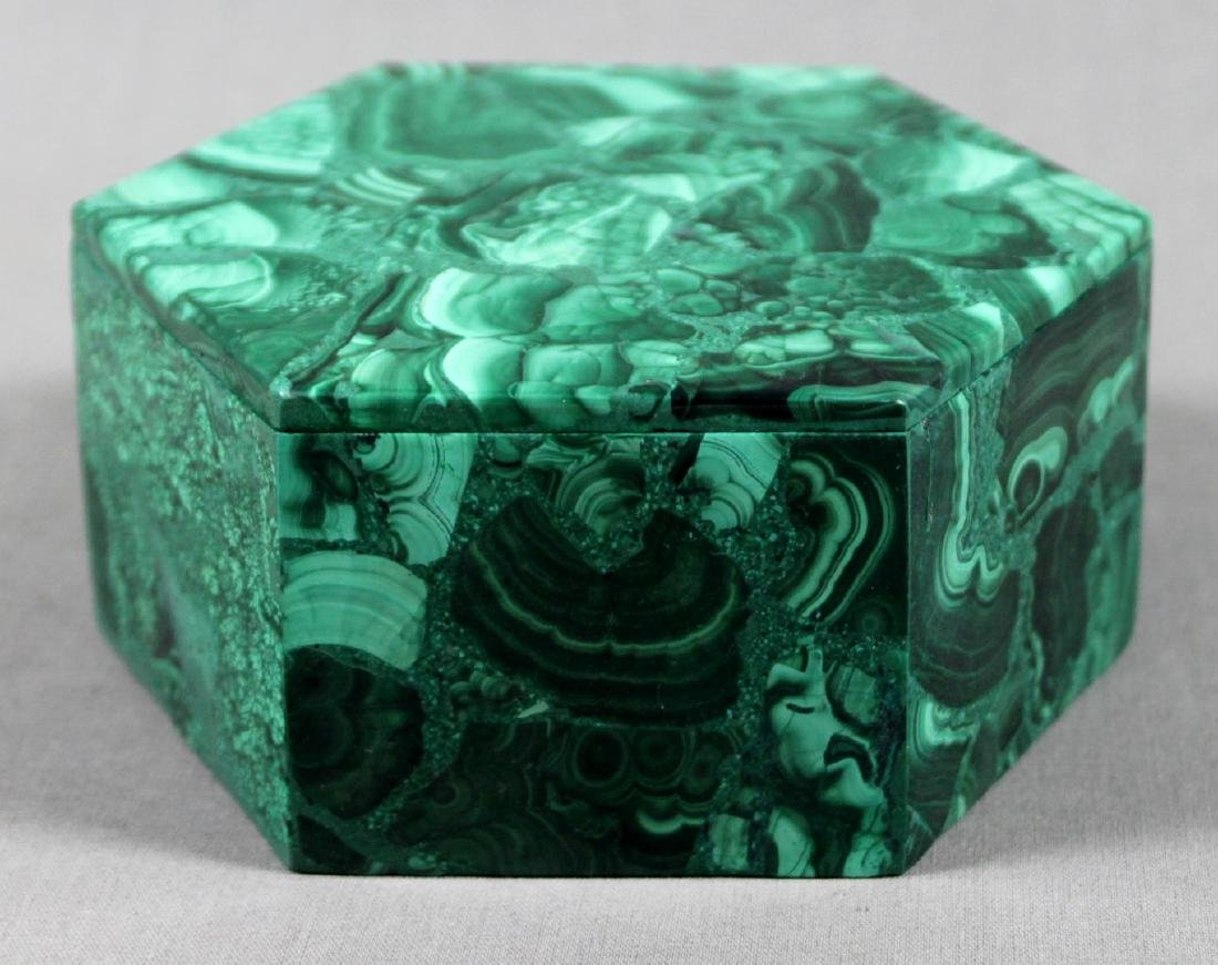 RUSSIAN MALACHITE LIDDED BOX