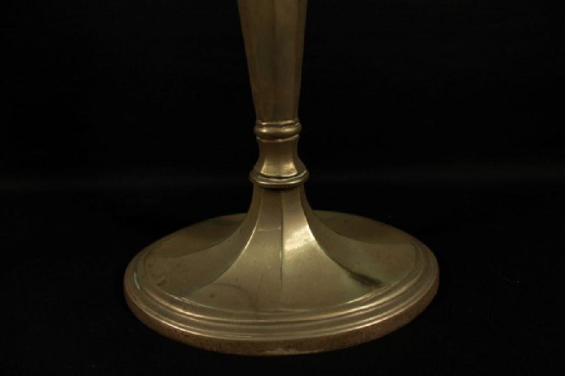 Pair Of Bronze Candlesticks - 3