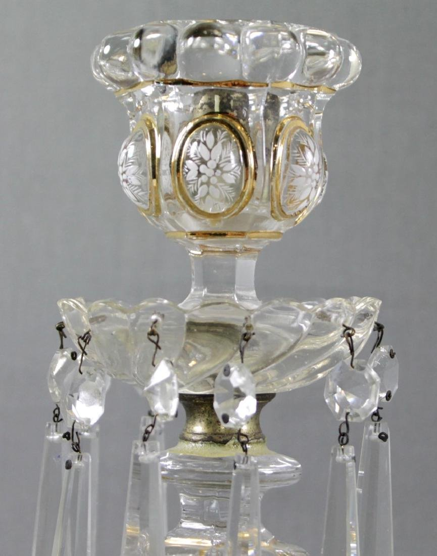 PAIR OF BACCARAT CRYSTAL CANDLE STICKS - 3