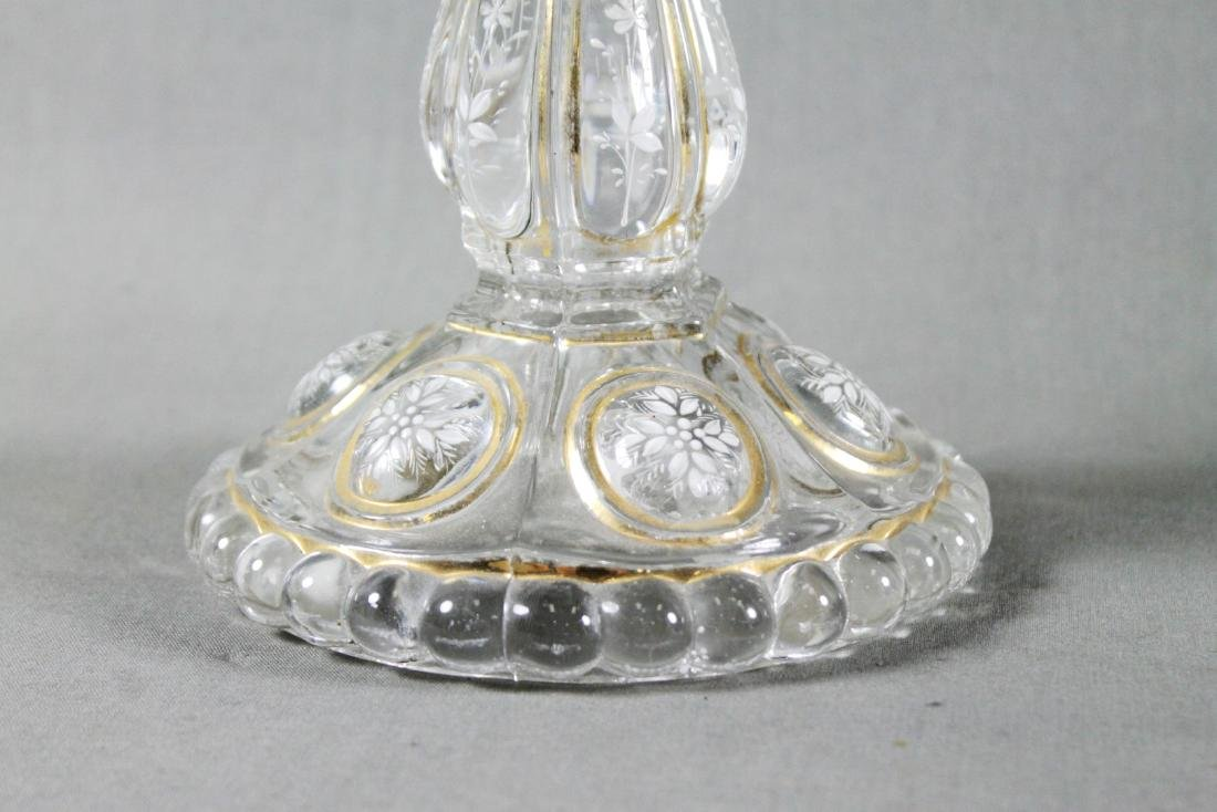 PAIR OF BACCARAT CRYSTAL CANDLE STICKS - 4