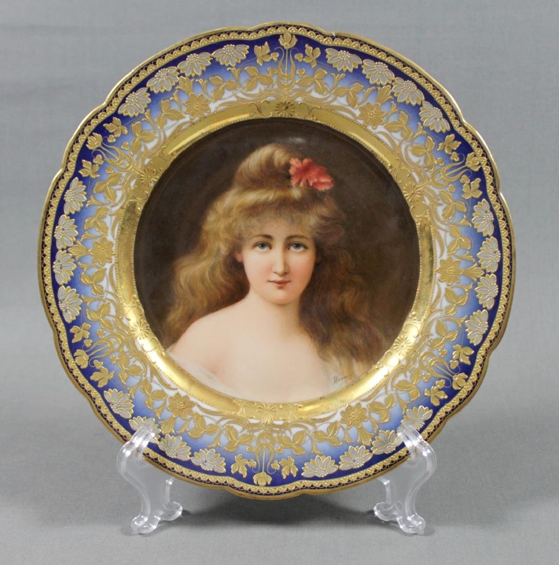 Royal Vienna Porcelain Cabinet Pate Signed