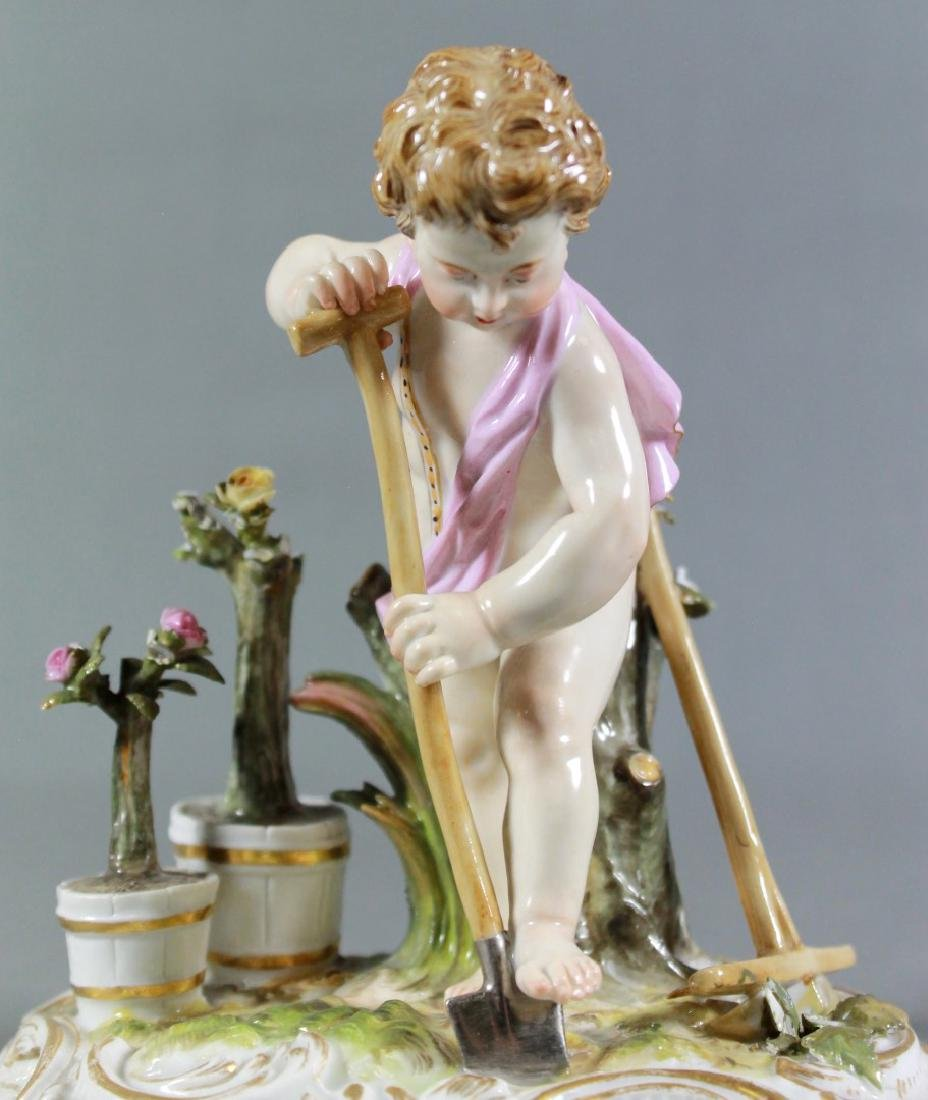 Meissen Saxony Porcelain Figure Of Putti Working In The - 2