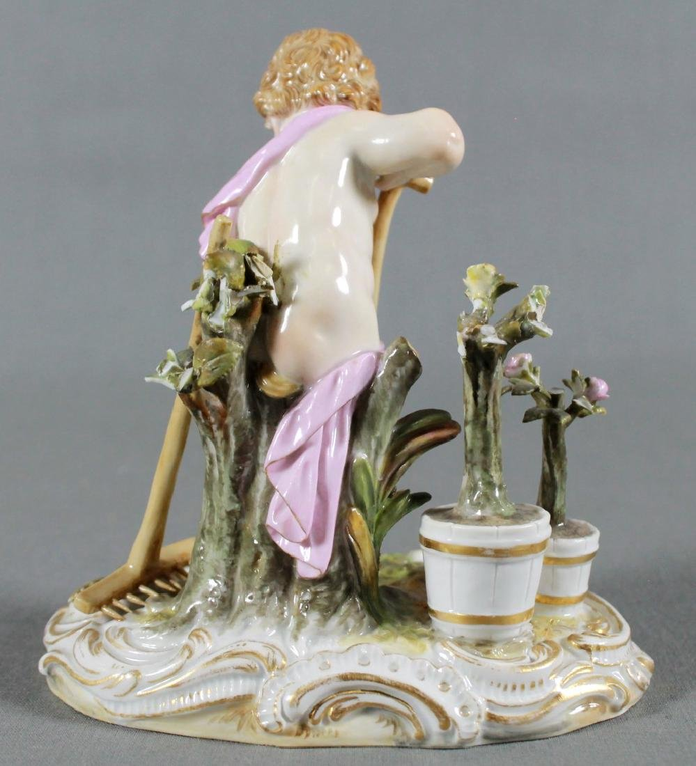 Meissen Saxony Porcelain Figure Of Putti Working In The - 3