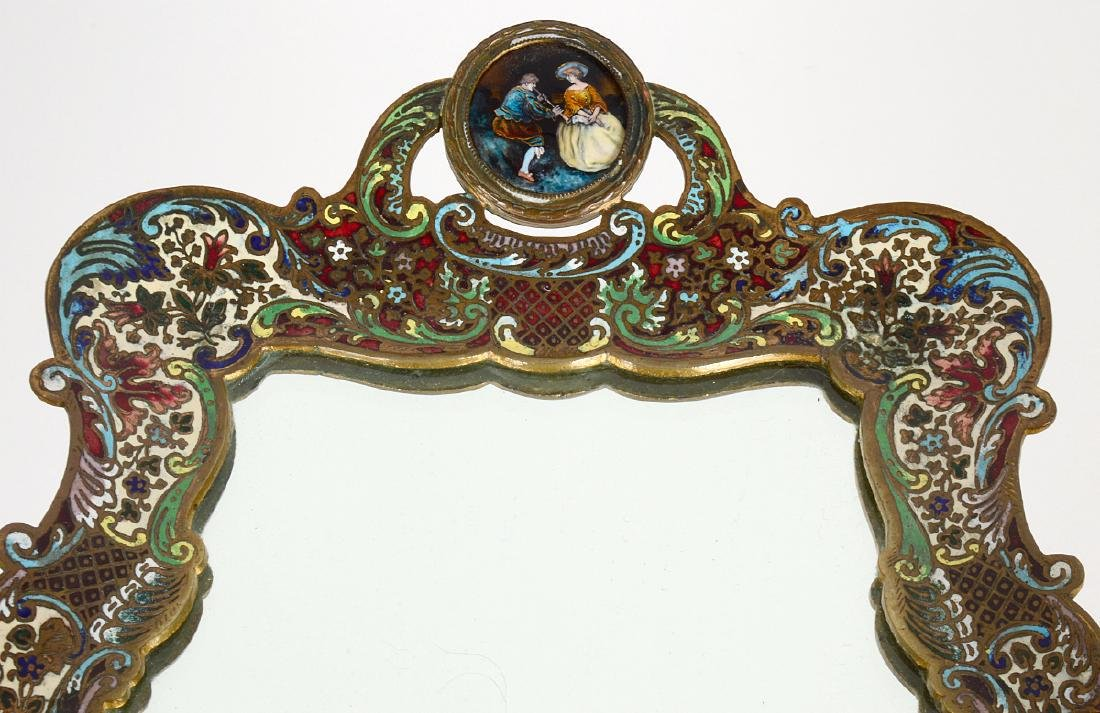 French Champleve Enamel And Bronze Dressing Tray - 3