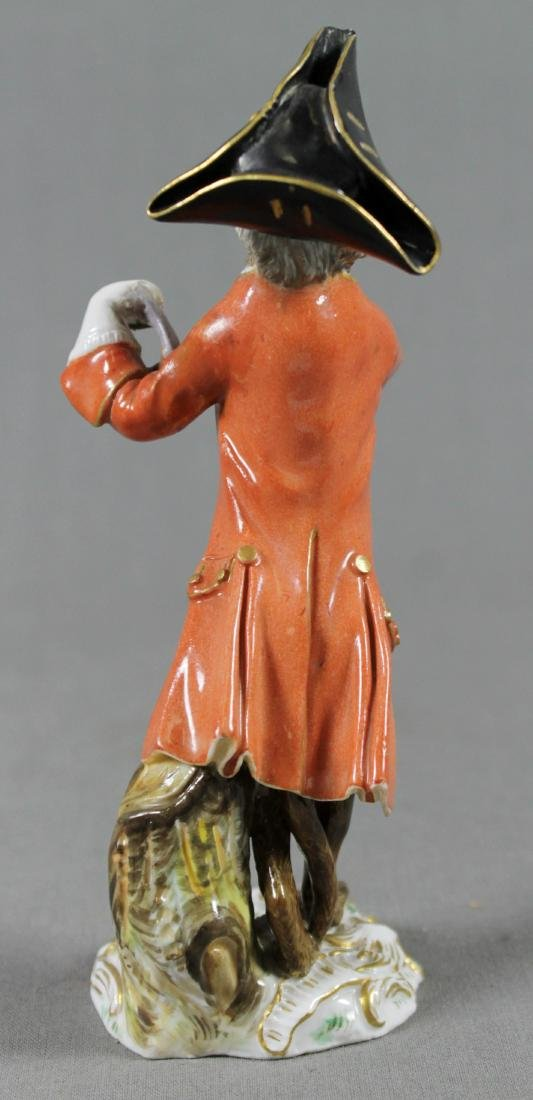 19Th C. Meissen Monkey Band Figure Of Triangle Player - 5