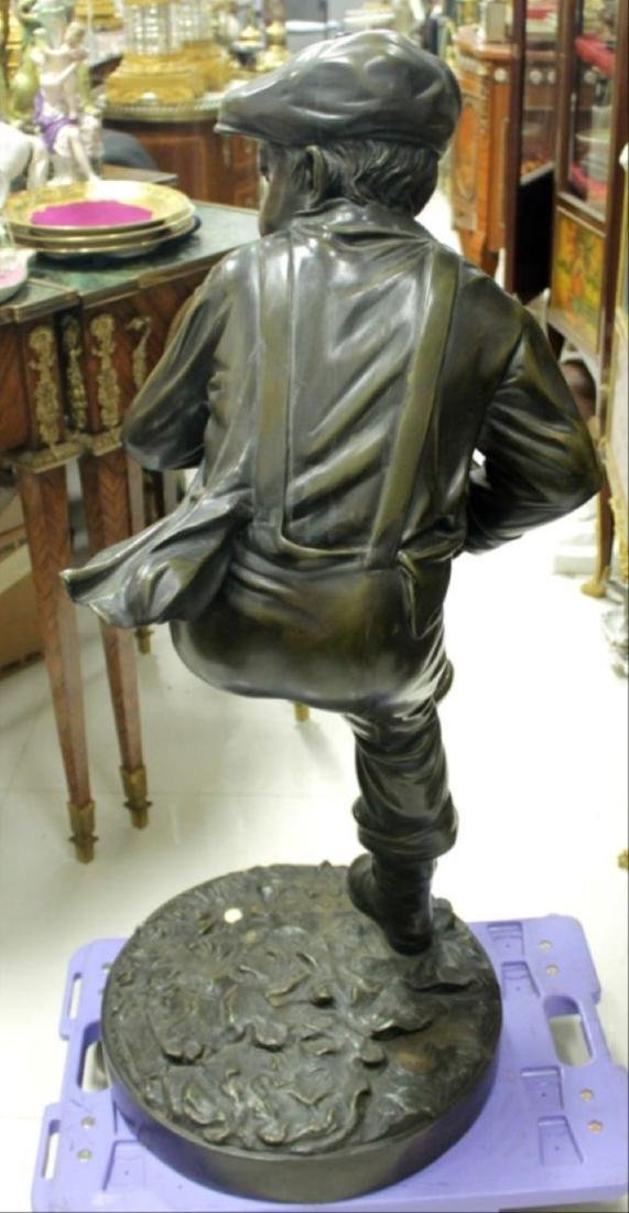 Large Patinated Bronze Figure Of A Baseball Player - 6