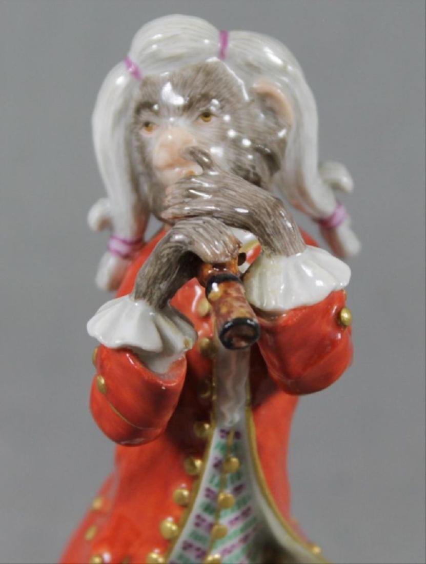 19Th C. Meissen Monkey Band Figure Of Clarinet Player - 2