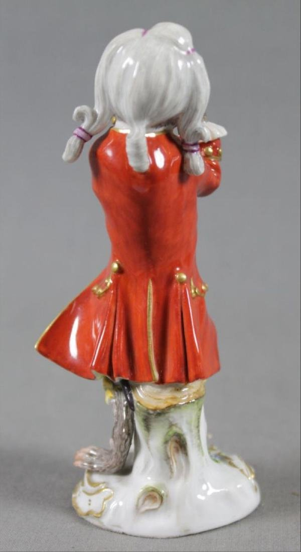 19Th C. Meissen Monkey Band Figure Of Clarinet Player - 4