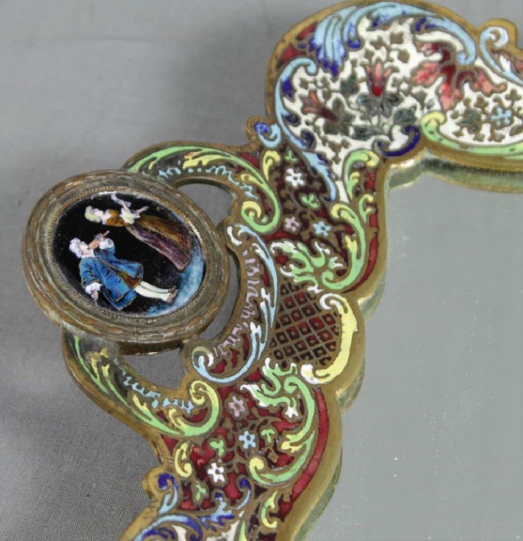19Th C. French Champleve Mirrored Table Tray - 2